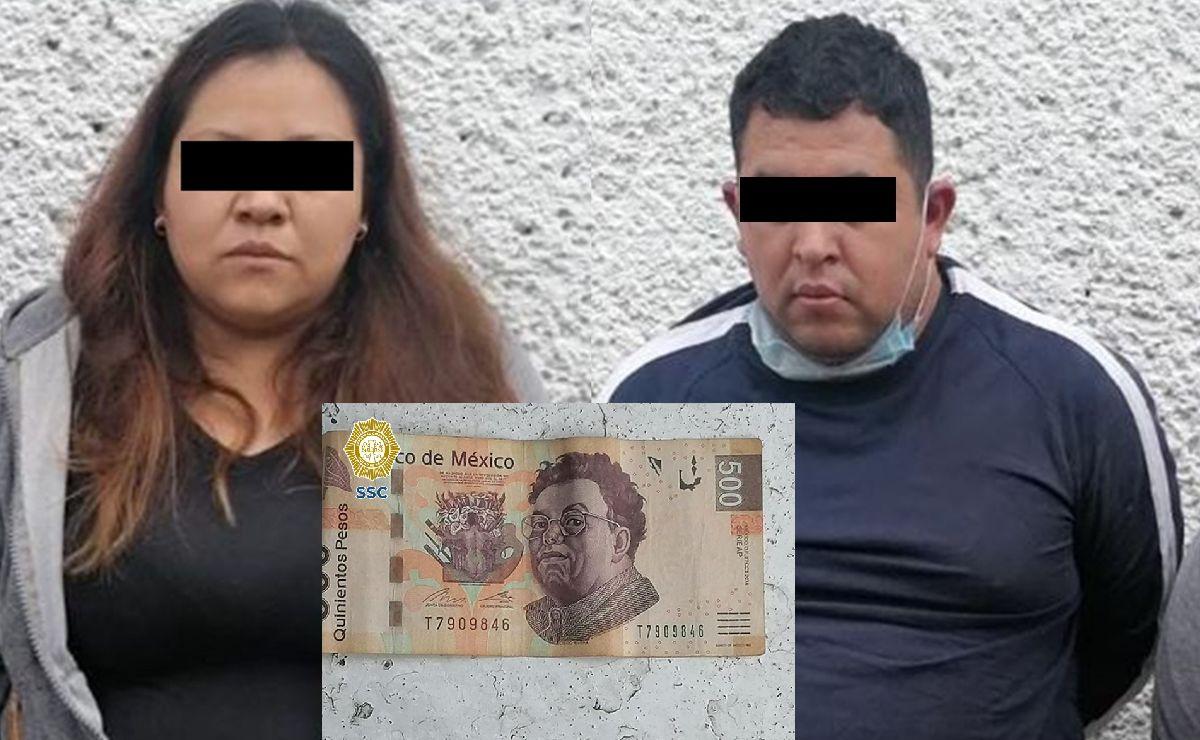 Caen dos asaltantes tras quitarle 500 pesos a hombre en la Ciudad de México