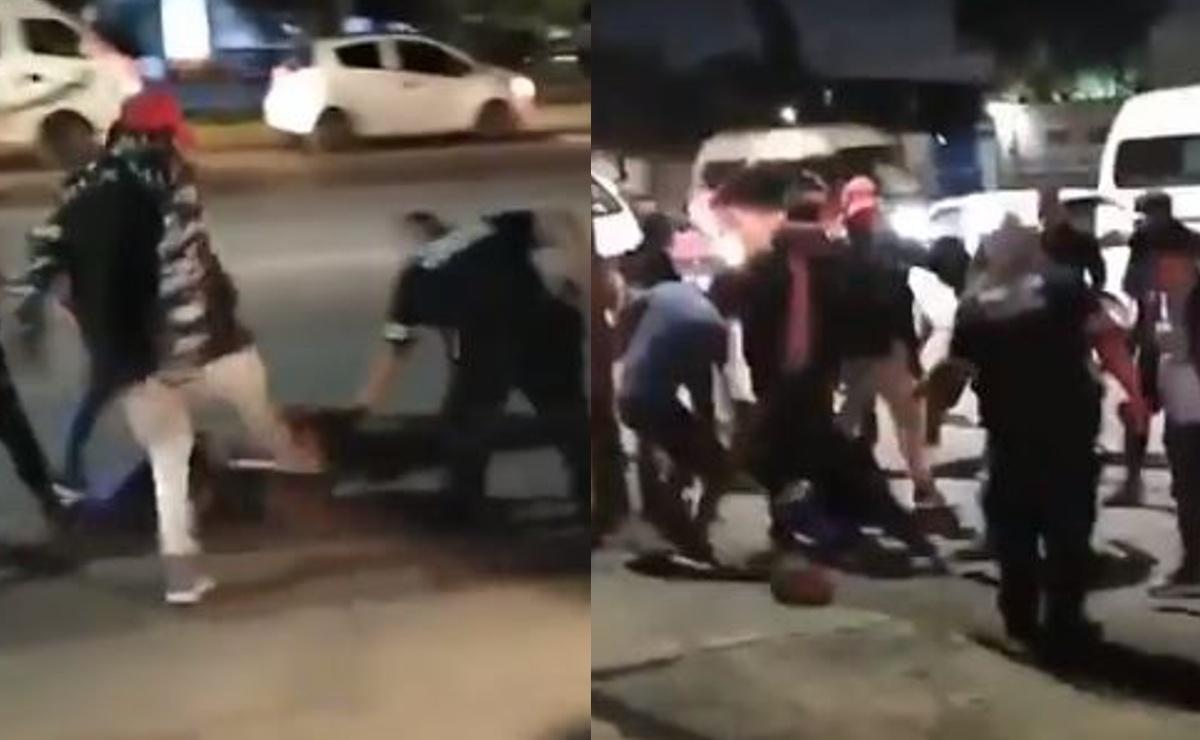 """Usuarios de combi dan golpiza a otros asaltantes que """"venían muy liones"""", en Edomex"""