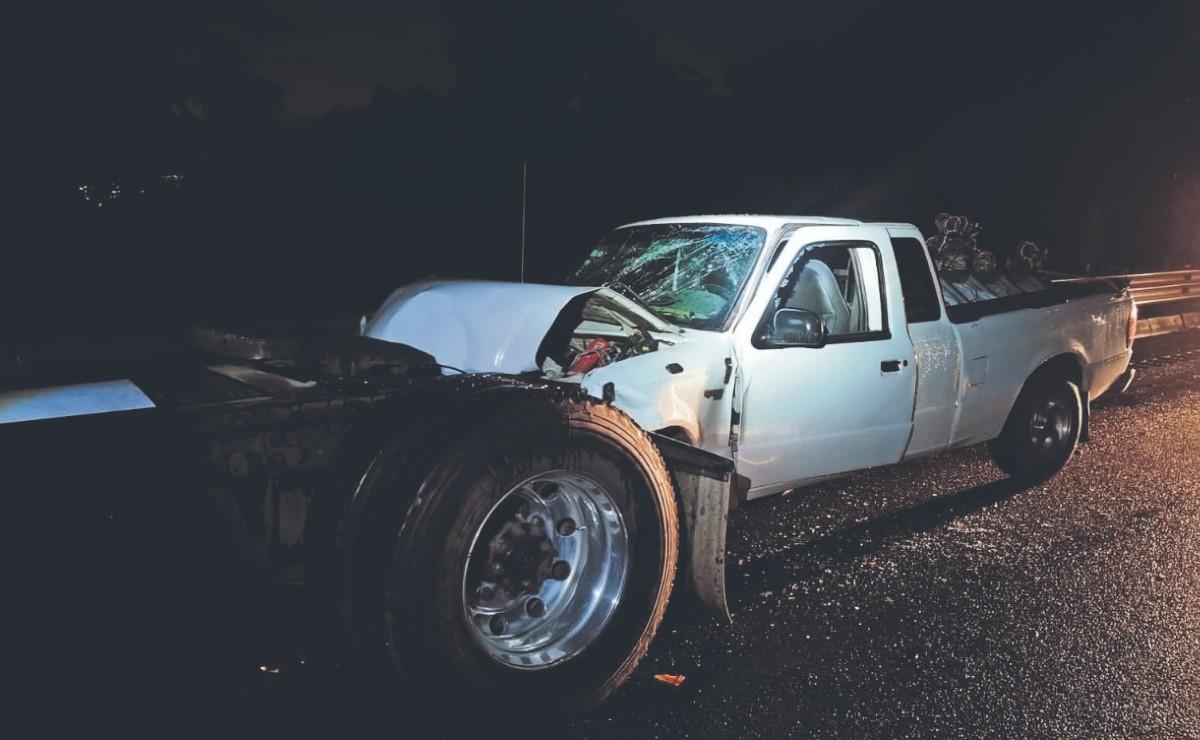 Comerciante del Edomex muere al chocar su camioneta contra tráiler en carretera de Morelos