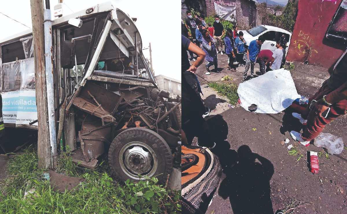 Muere mamá y su hijo de 4 años queda muy grave tras ser arrollados por micro en Xochimilco