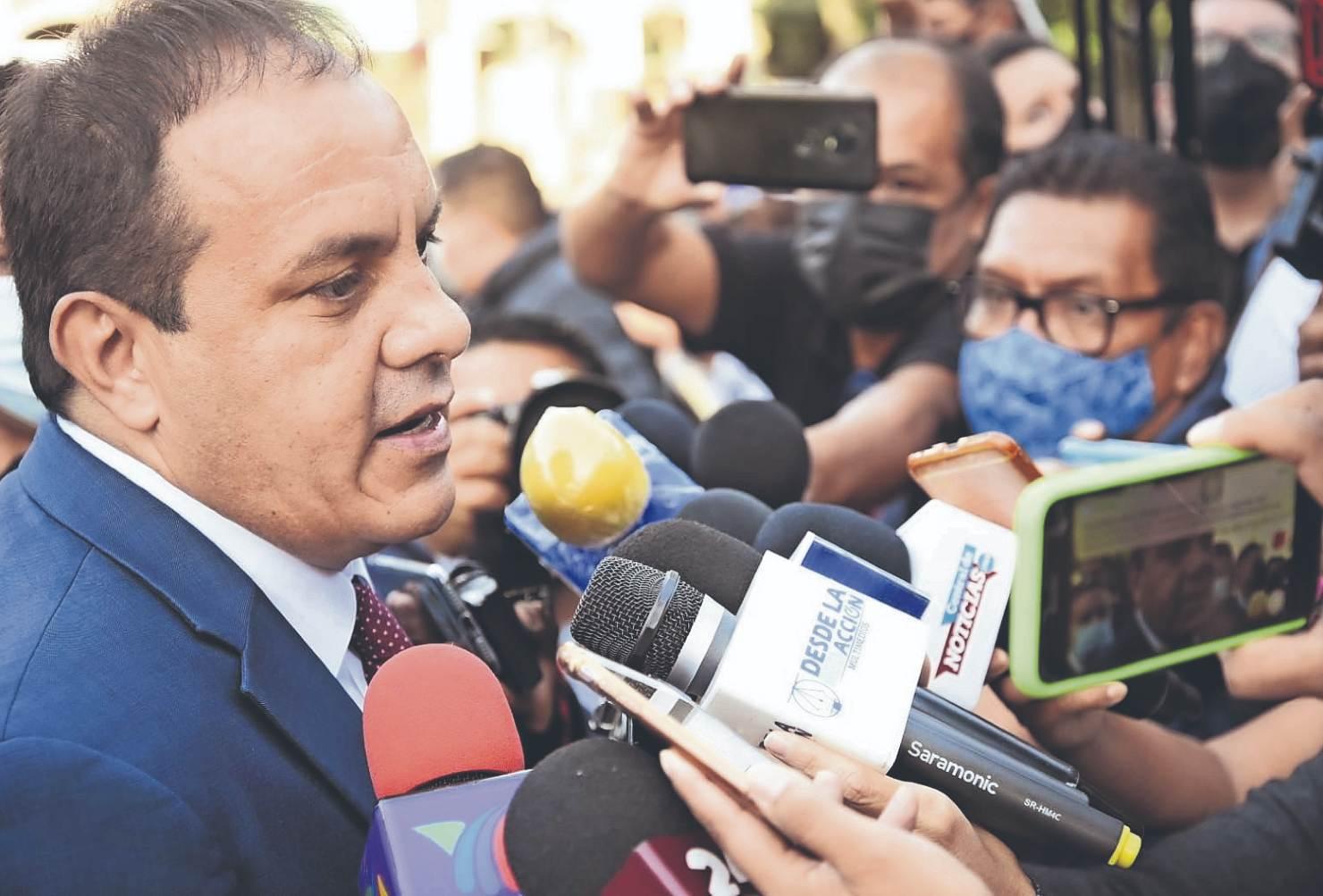 Gobernador de Morelos desmiente estar involucrado en actos de lavado de dinero