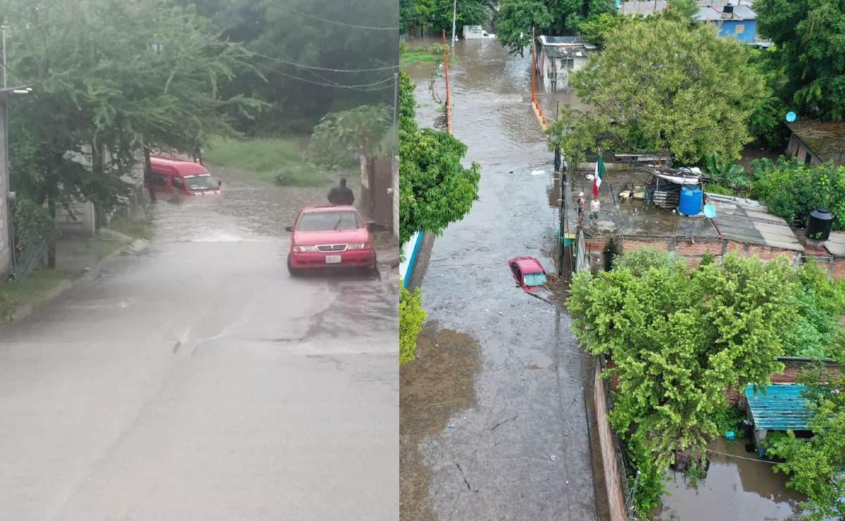 Más de 9 horas de lluvia colapsan barrancas y sumergen Jiutepec y Yautepec en Morelos