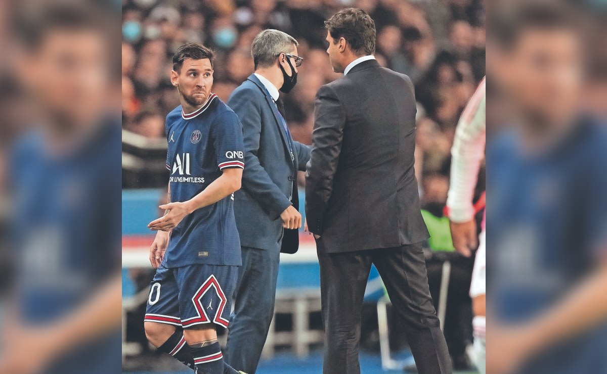 La molestia de Lionel Messi con Pochettino, tras ser sustituido en el PSG