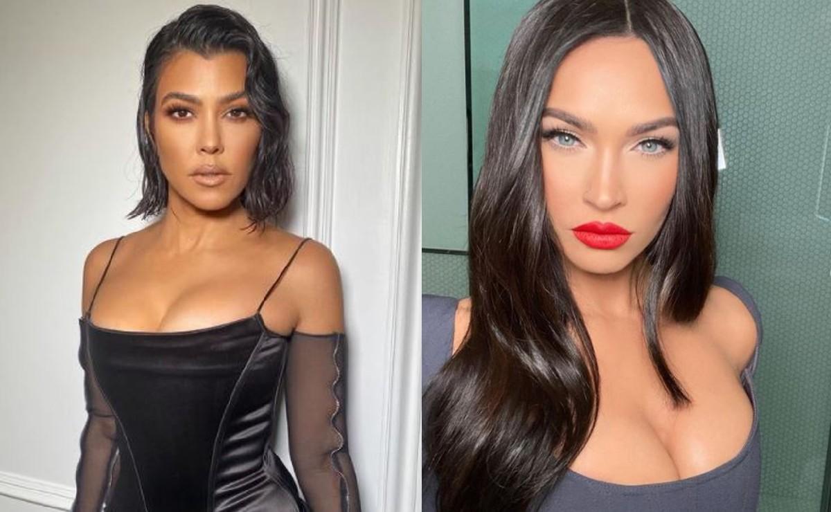 Kourtney Kardashian y Megan Fox se manosean semidesnudas y las fotos ya son virales