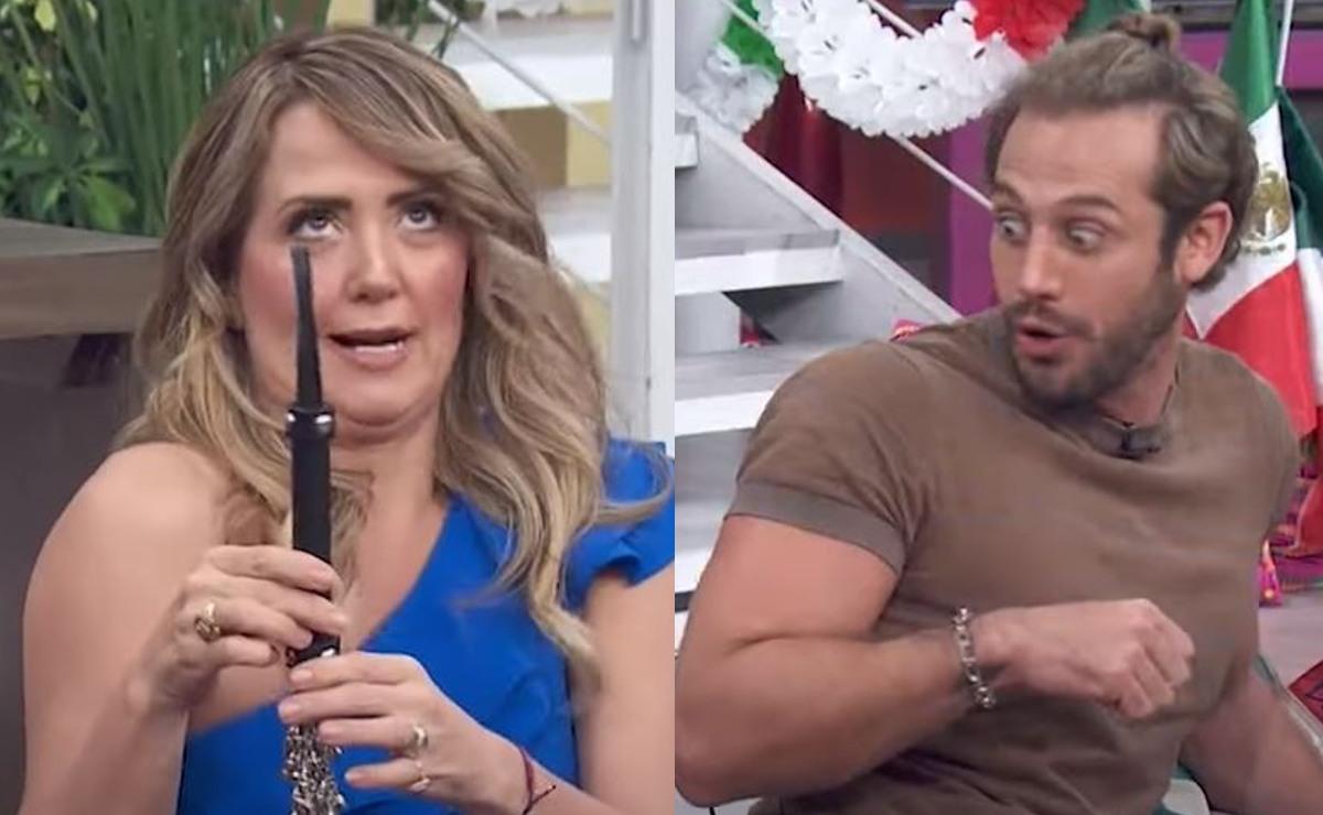 Andrea Legarreta calienta con juguete sexual a Lambda García, en pleno programa Hoy