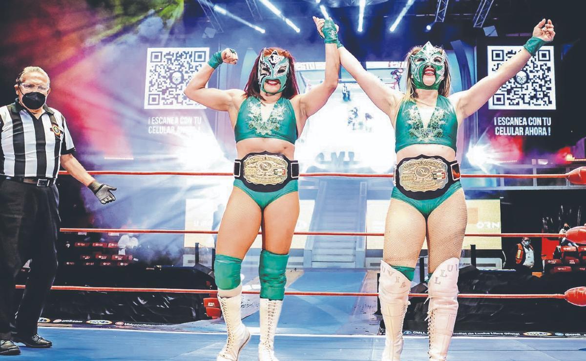Jarochita y Luna deseosas de dar la mejor batalla en el 88 aniversario del CMLL