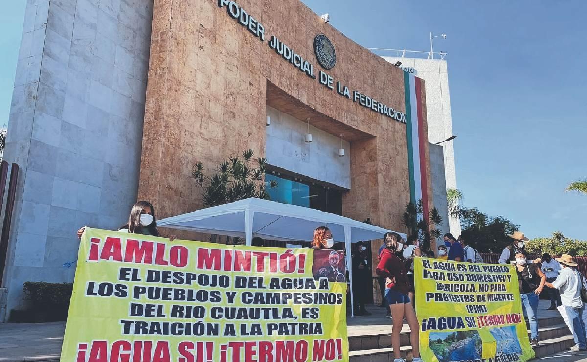 Vecinos de Morelos exigen que CFE no tome agua de río ni de planta de Cuautla, por amparo