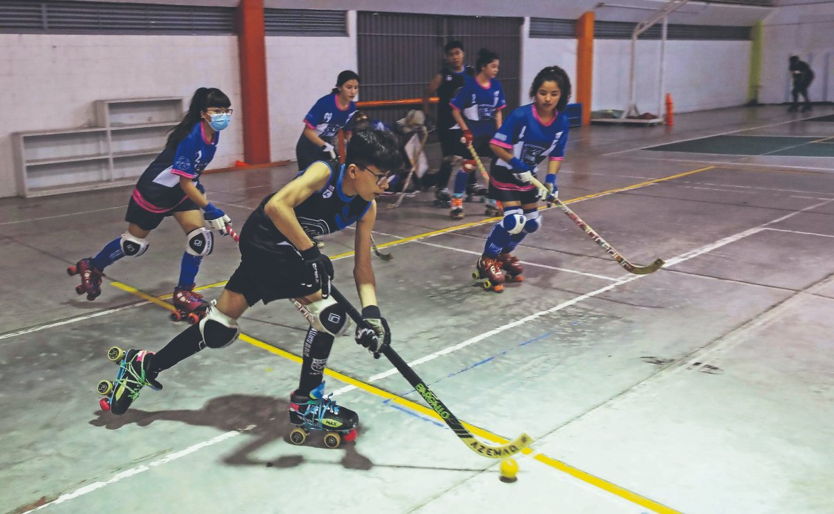 Hockey sobre ruedas, el desconocido juego que tiene una poderosa base en Neza