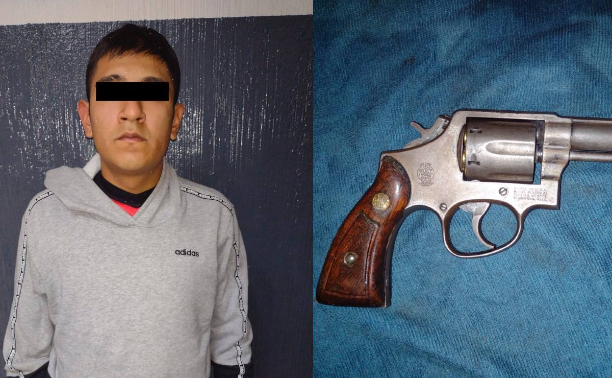 Detienen a joven por meterle dos balazos a otro y dejarlo grave, en la Cuauhtémoc