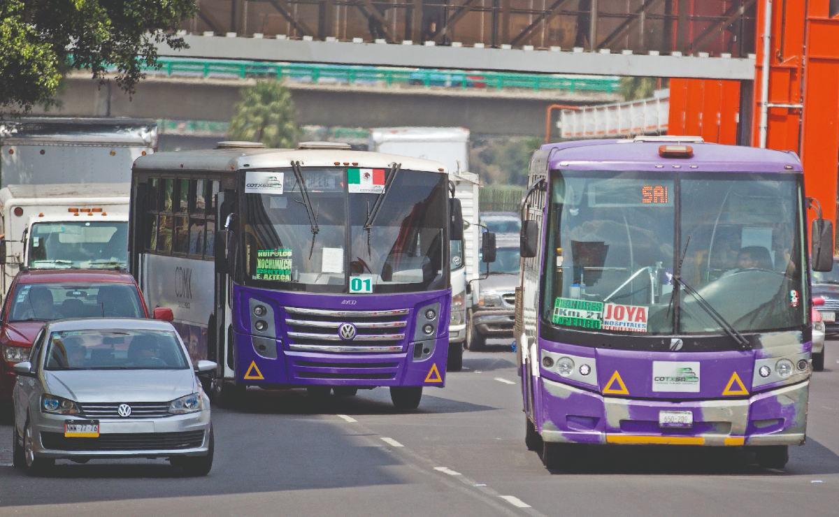 Transportistas de CDMX tendrán que invertir entre 20 y 30 mil pesos, por nueva cromática