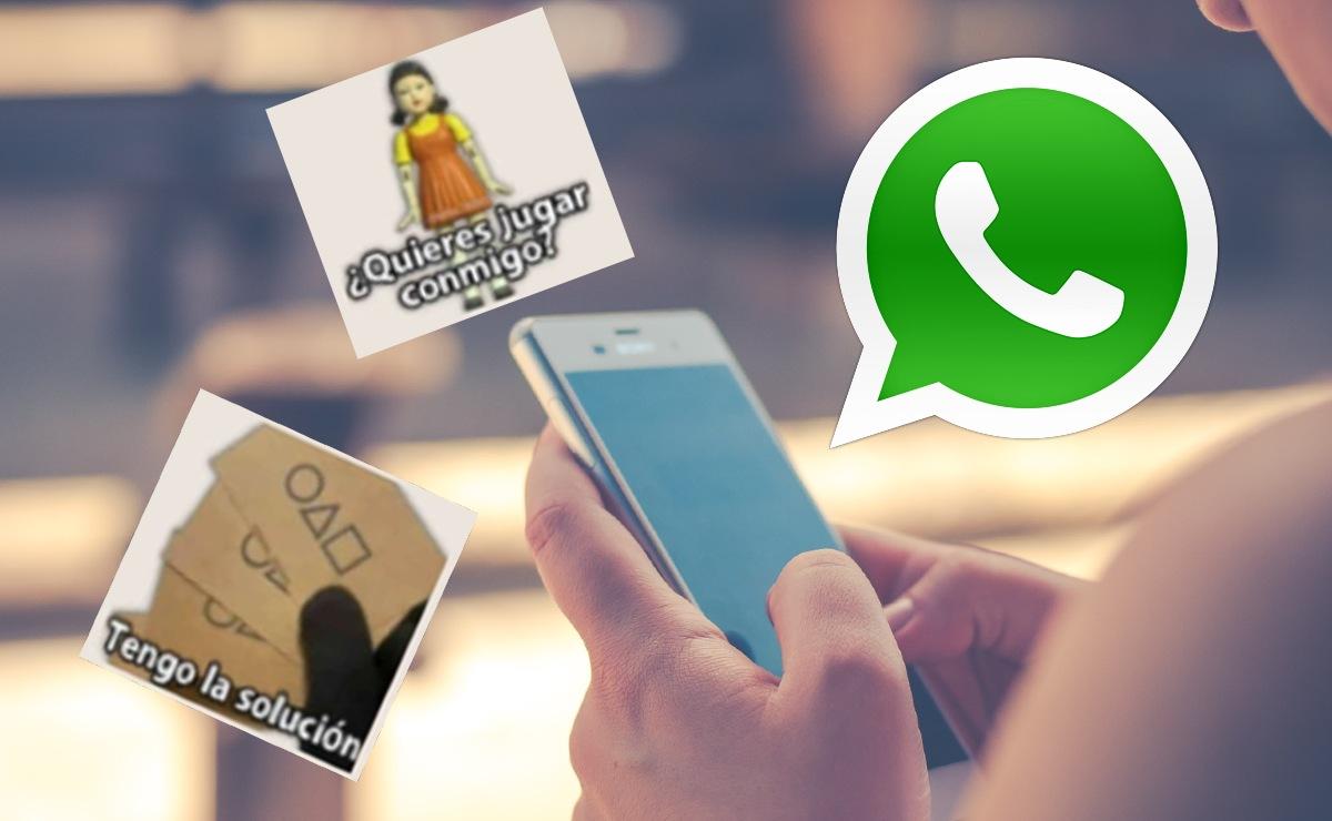 """Así puedes descargar tus propios stickers para WhatsApp de """"El Juego del Calamar"""""""