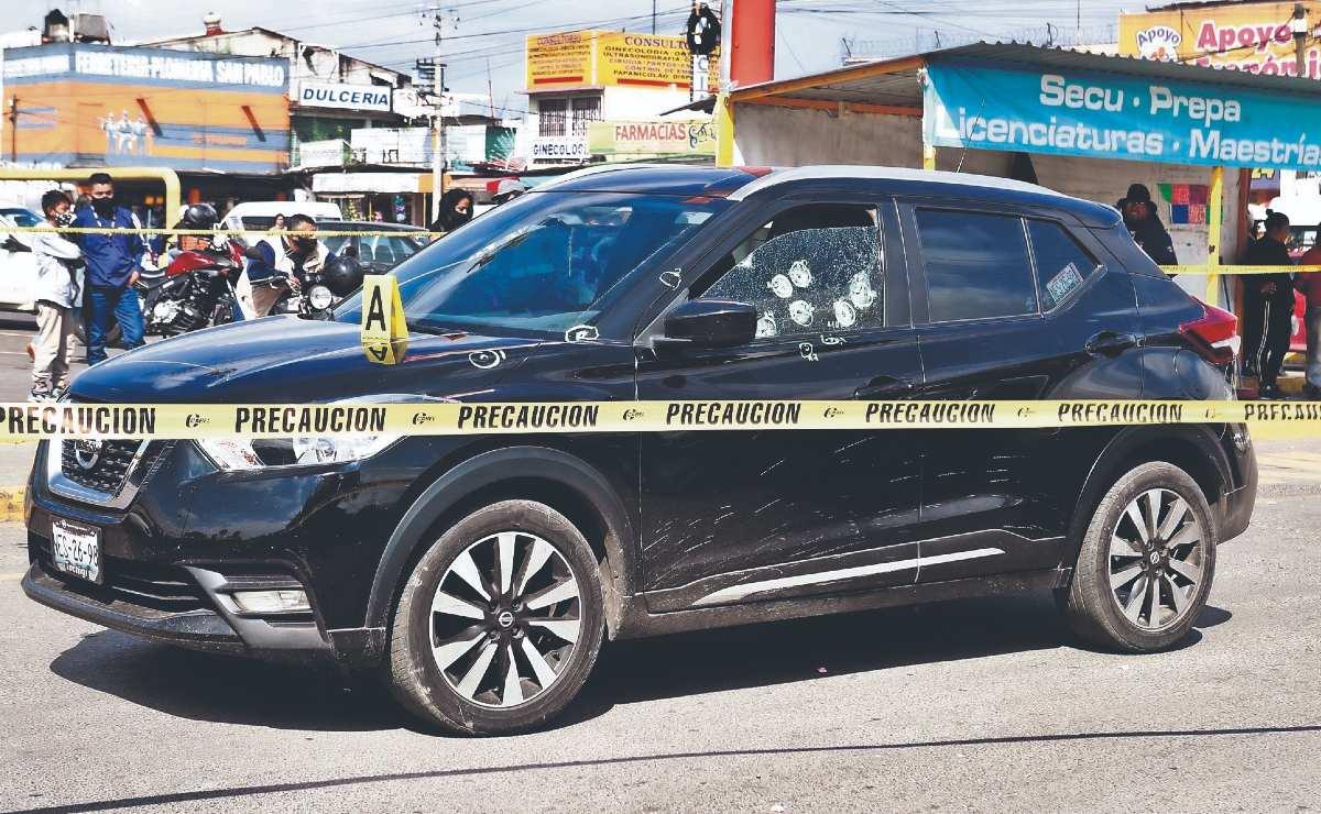 Policía de Coacalco muere rafagueado en los brazos de su esposa, dos más salieron heridos