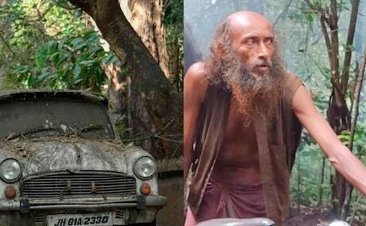 Hombre que lleva 17 años viviendo en el bosque se vacuna contra el Covid-19, en India