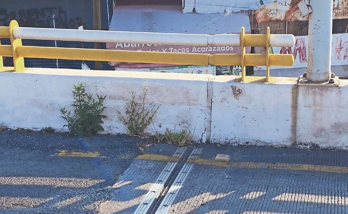 Piden al gobierno de Morelos iniciar mantenimiento y limpieza de puente con grietas