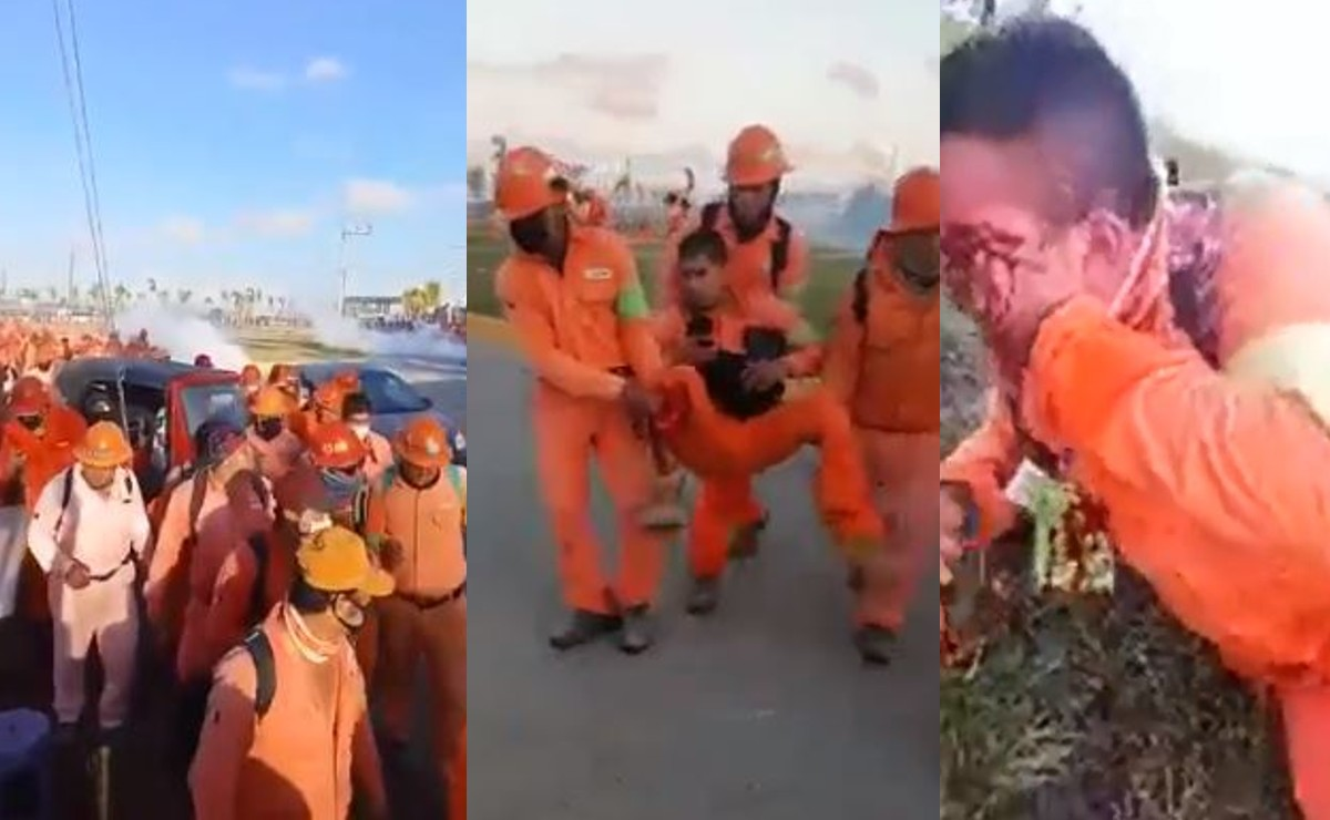 Se desata conflicto laboral en refinería de Dos Bocas, hay heridos y detenidos en Tabasco