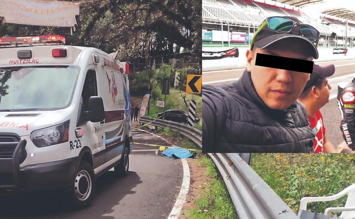 Motociclistas se descontrola, muere sobre la México-  Cuernavaca y sus amigos lo abandonan