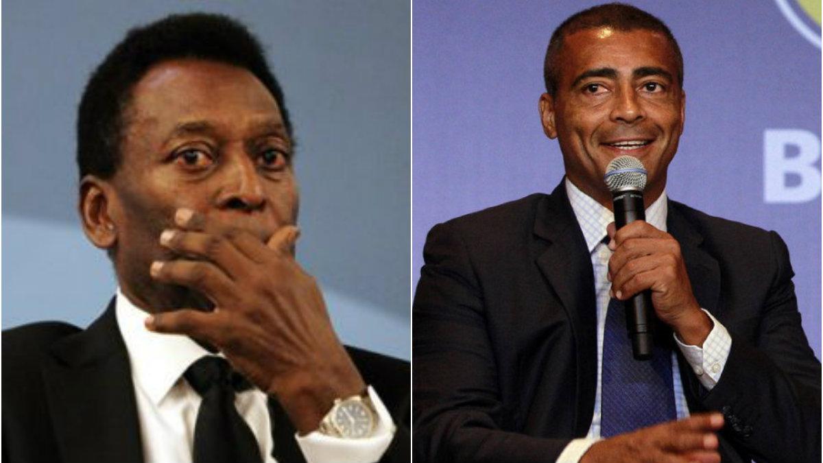 Pelé y Romario calientan Twitter