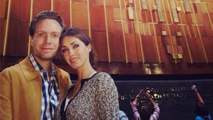 Anahí y su novio van a la Basílica de Guadalupe