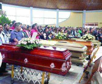 Fallecidos explosión Hidalgo último adiós