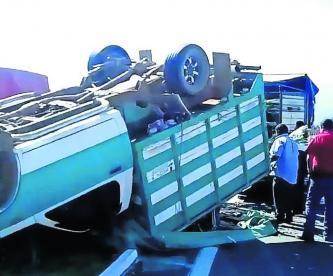Camioneta Flores Volcadura Toluca