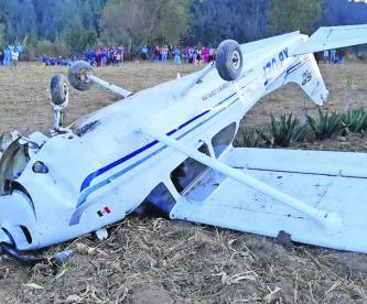 Desploma Avioneta Cultivos Ilesos Toluca