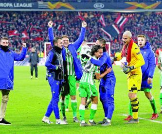 Diego Lainez UEFA Real Betis La Unión de Asociaciones Europeas de Futbol anotación del mexicano