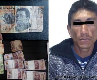 policías capturan hombre con billetes falsos tienda guadalupe victoria ecatepec