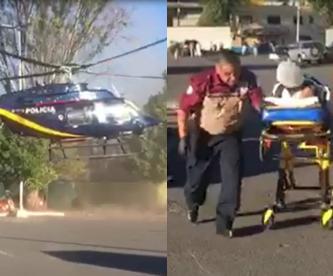 traslado maniobras helicóptero cóndor herido quemaduras CDMX