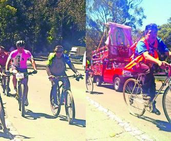Ciclistas peregrinos rodada Basílica Guadalupe