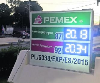 Aumenta precio gasolina Magna Premium
