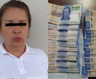 Detienen mujer 10 mil pesos falsos Teotihuacán