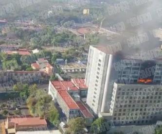 Elementos Cóndor rescatan tres personas incendio Conagua CDMX