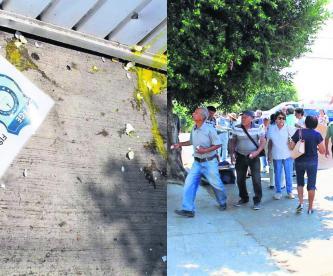 Morelos Lanzan huevos Fiscalía Anticorrupción Protesta