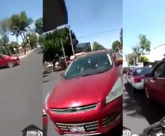 conductora choque motociclista cdmx pelea