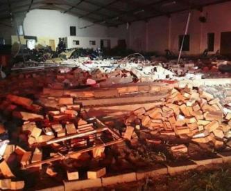 Iglesia derrumbada Muertos y heridos Sudáfrica