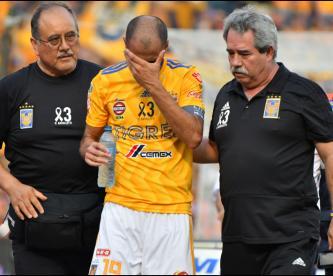 Tras golpe en la cabeza, Tigres arriesga salud de Guido Pizarro