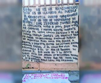 morelos manta amenaza asesino primaria puente de ixtla