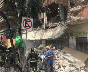 Derrumbe de edificio CDMX Calzada de Tlalpan Daños por sismo