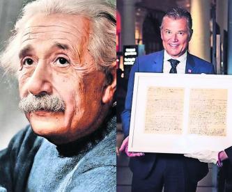 Museo Nobel de Estocolmo recibe manuscrito de Albert Einstein