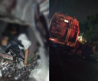 accidente xochimilco camión de basura cdmx