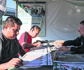 Diabéticos rechazados policias municipales sin documentación falta de papeles candidatos hipertensos Diana Peréz Tejeda sobrepeso