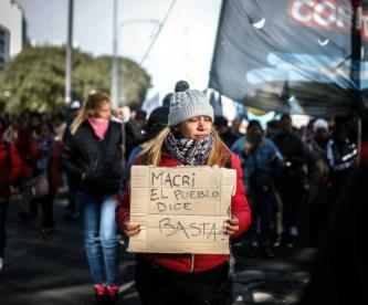 Argentina Mauricio Macri crisis económica manifestantes argentinos