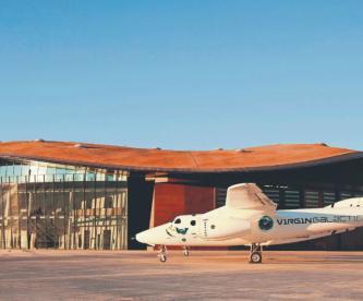 Terminal galáctica Virgin Galactic turismo espacial