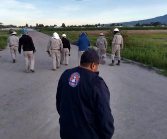 Se registra fuga de gas LP en San Jerónimo Ocotitlán Puebla