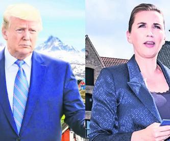 donald trum se enoja cancela viaje dinamarca primera ministra comentario repugnante Matte Frederiksen