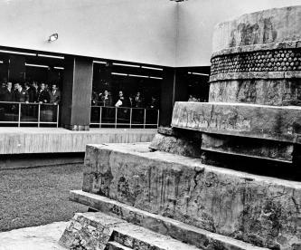 El metro Pino Suárez, durante su inauguración