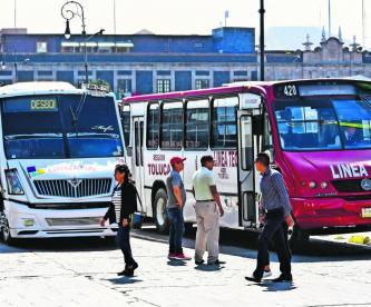 transportes públicos caros y chafas edomex