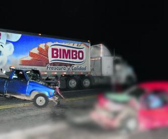 camioneta carril contrario choque mortal Edomex