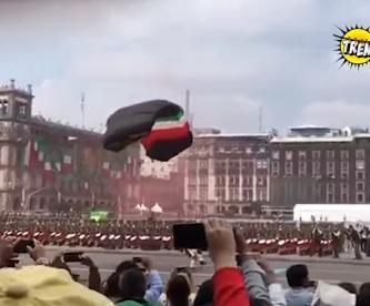 accidentes desfile militar ciudad de méxico paracaidista