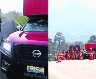 Toluca-Zitácuaro hombres asesinados camioneta